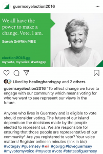 influencer marketing local politics Guernsey